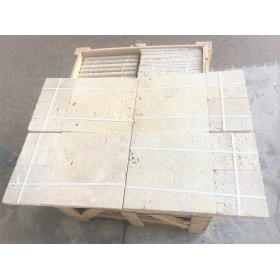 TRAVERTINE FRENCH PATTERN ANTIC  2 cm