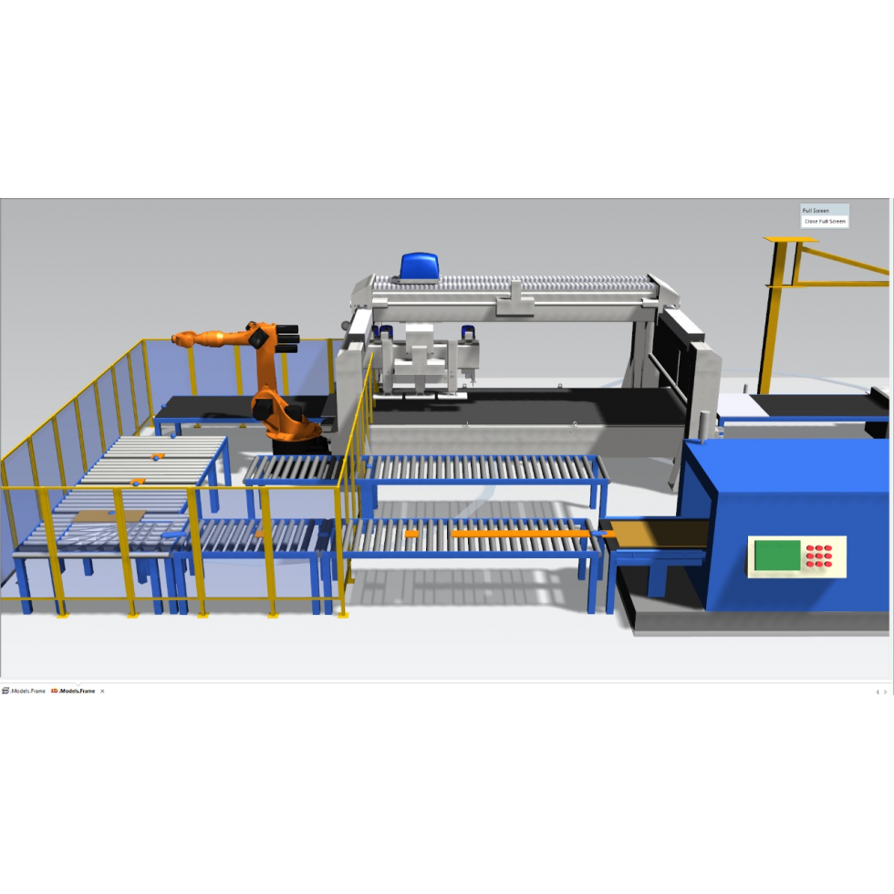 Lay-out production line