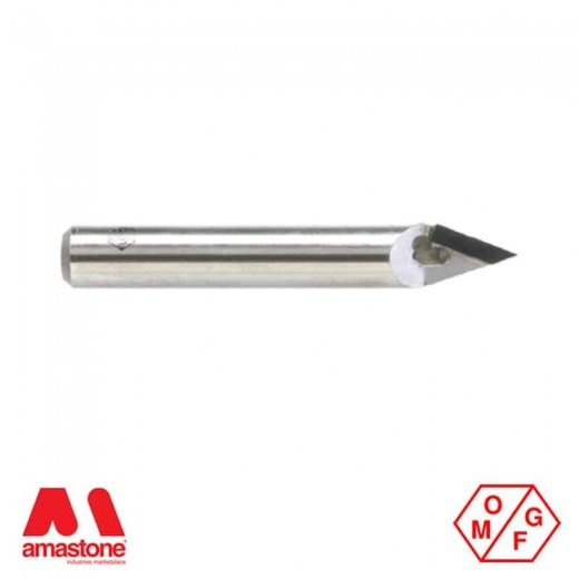 POLYCRYSTALLINE V-GROOVE ROUTER BIT FOR GRANITE - OMGF